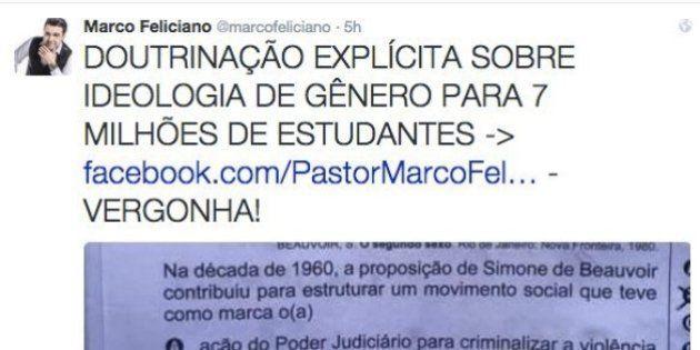 Bolsonaro e Feliciano reclamam de doutrinação no