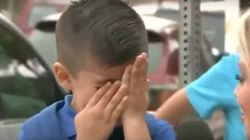 ASSISTA: Repórter faz garotinho chorar no primeiro dia de