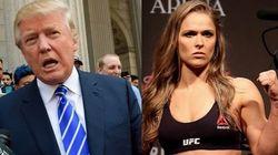 Ronda dá gancho em Trump: 'Não acredito nesse cara comandando meu
