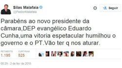 FALSIANE! Malafaia diz que nunca apoiou Cunha,