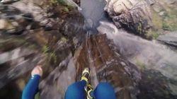 ASSISTA: Brasileiro salta de cachoeira de 58,8 metros altura e quebra o recorde