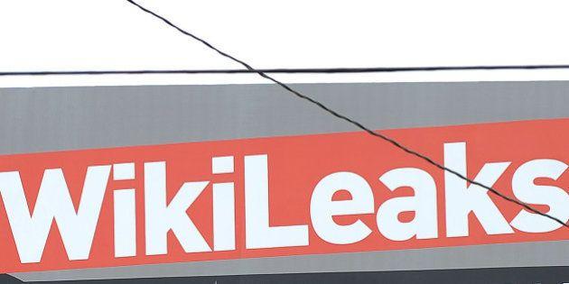 A billboard advertises support for WikiLeaks' founder Julian Assange is seen on Santa Monica Boulevard...