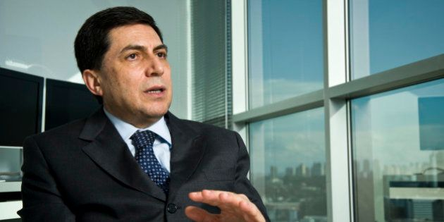 BRAZIL - AUGUST 03: Luiz Carlos Trabuco Cappi, chief executive officer of Banco Bradesco SA, speaks during...