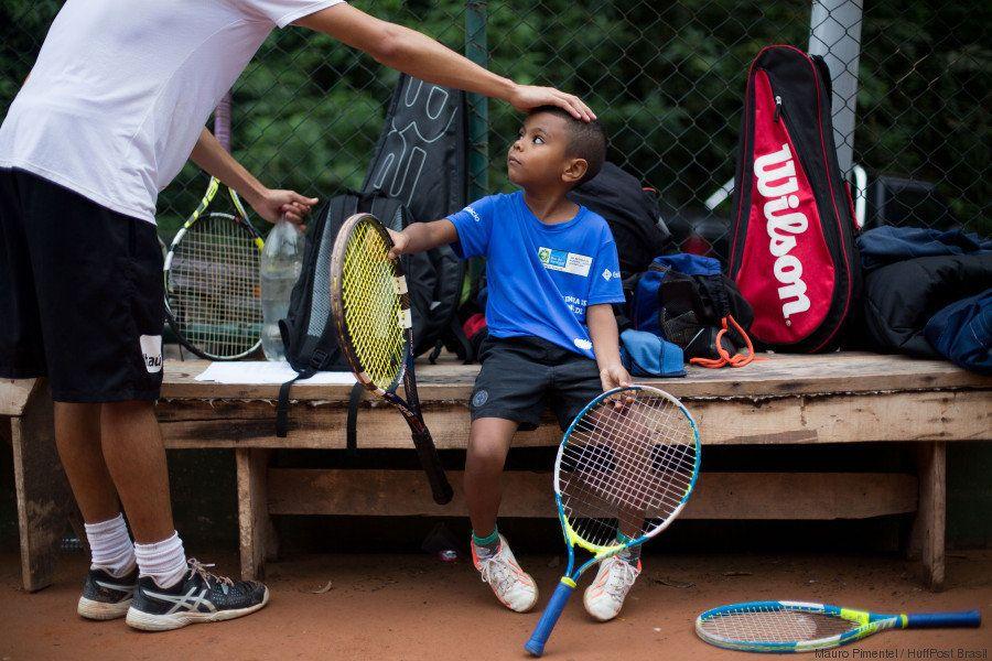 A elite do tênis brasileiro fica na favela da