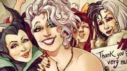 Personagens Disney 'tiram selfies' de Instagram em série de