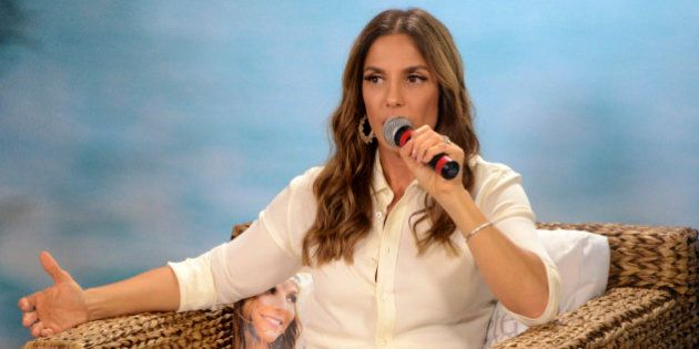 SAO PAULO, BRZIL - JULY 27: Brazilian singer Ivete Sangalo speaks during a press conference at VEVO headquarters...