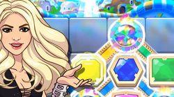 Shakira lançou um joguinho para celular e ele parece ser extremamente