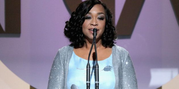 CENTURY CITY, CA - JANUARY 23: Shonda Rhimes accepts the Norman Lear Achievement Award onstage at the...