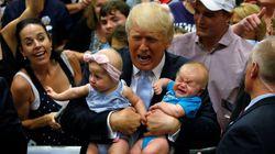 Nem os bebês querem Trump: A sinceridade no olhar de quem está