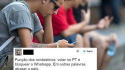 Reclamar do bloqueio do WhatsApp pode. Ódio contra o Nordeste,
