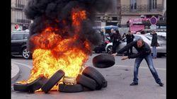 FOTOS: Sequência de protestos - de taxistas, controladores de voo e professores - paralisa a