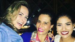 Ana Paula, Munik e Narcisa se encontram no Rio (e tuiteiros vão à