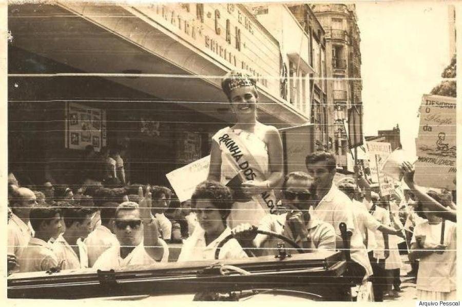 Em 1963, quando foi eleita Rainha dos Calouros na Faculdade de