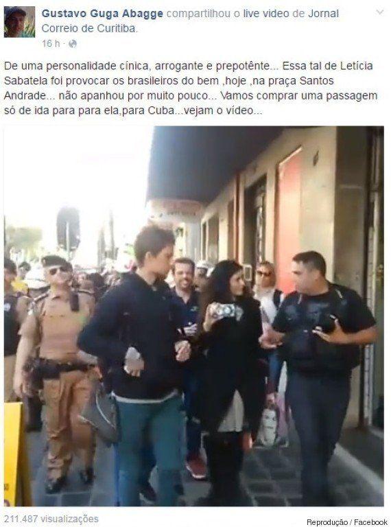 Filho de banqueiro e filiado ao PSD. Quem é o manifestante que xingou Letícia Sabatella de