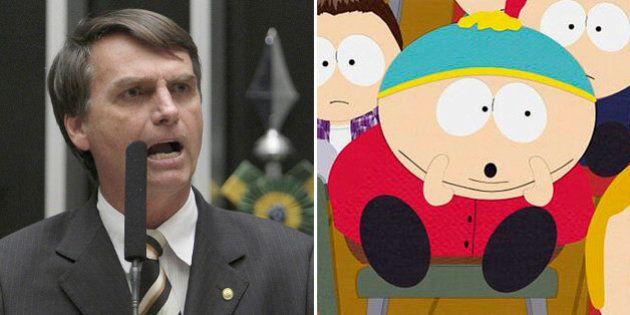 Jair Bolsonaro e Eric Cartman têm discursos muito