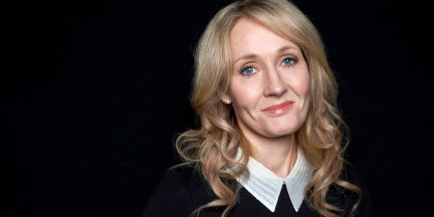 FILE - This Oct. 16, 2012 file photo shows author J.K. Rowling at an appearance to promote her latest
