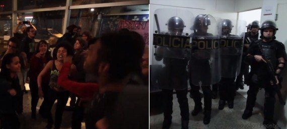'Não tem arrego!': O momento em que a Polícia Militar deixa a ocupação dos estudantes em