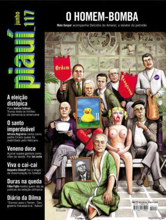Cunha 'olímpico' pratica ginástica ALGEMADO na capa da revista piauí de