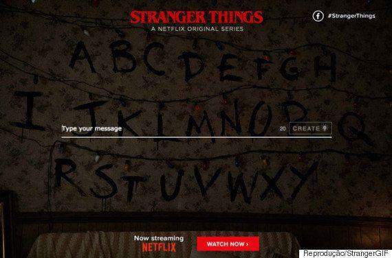 Agora você pode criar sua própria mensagem com as luzes de 'Stranger