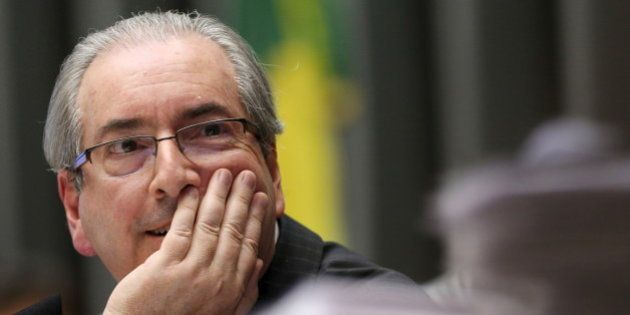 Brazil's Lower House Speaker Eduardo Cunha attends a session of the National Congress in Brasilia, Brazil,...
