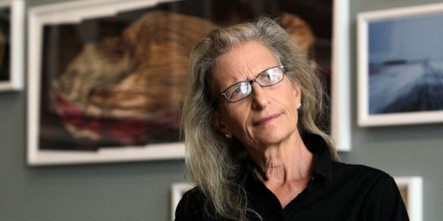 Annie Leibovitz during an interview before the opening of her exhibition at the Wexner Center for the...