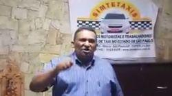'Agora é cacete': Presidente do sindicato dos taxistas de SP terá que explicar vídeo à