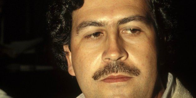 COLOMBIA - FEBRUARY 01: Pablo Escobar, the godfather of the Medellin Cartel in Colombia in February ,...