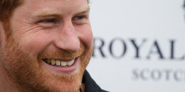 Britain's Prince Harry arrives for the Sentebale Royal Salute Polo Cup in Wellington, Florida, U.S.,...