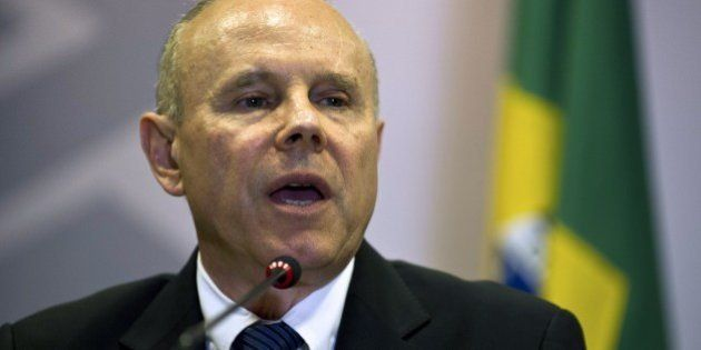 Brazil's Finance Minister Guido Mantega delivers a joint press conference with U.S. Secretary of the...