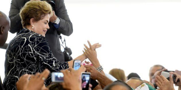 Brazilian President Dilma Rousseff attends the launching ceremony of a new stage of the state-subsidized...