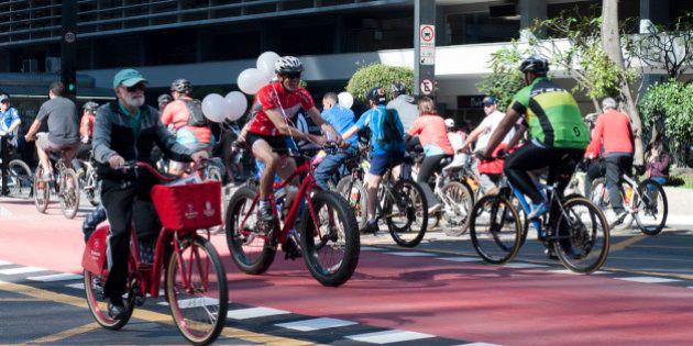 Inauguração ciclovia Avenida PaulistaSão Paulo, 28 de junho de 2015Fotos: Mariana