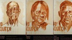 'A arte nunca esquece': Artista usa pincel e lama para homenagear vítimas de