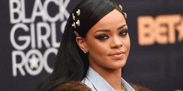 NEWARK, NEW JERSEY - APRIL 01: Rihanna attends Black Girls Rock! 2016 at New Jersey Performing Arts Center...