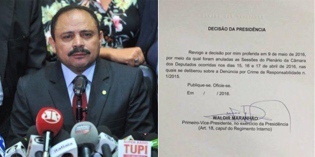 Após anular impeachment na Câmara, Waldir Maranhão recua e decide revogar