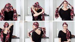 7 passos para aprender a amarrar um lenço e sair LINDA por