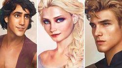 Artista faz versões reais de príncipes e princesas