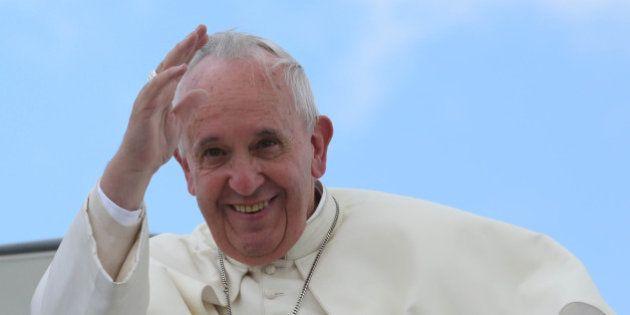 Tababela (Pichincha), 8 julio 2015.- El Presidente Rafael Correa, despidió al Papa Francisco hoy, cerca...