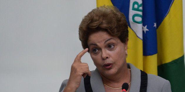 A presidente da República, Dilma Rousseff, fala sobre os protestos contra o governo e a corrupção,...