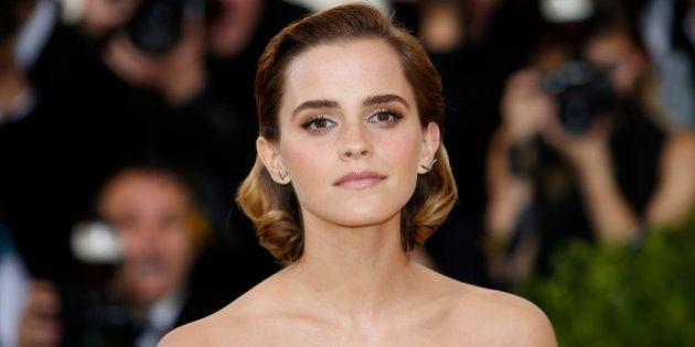 Actress Emma Watson arrives at the Metropolitan Museum of Art Costume Institute Gala (Met Gala) to celebrate...