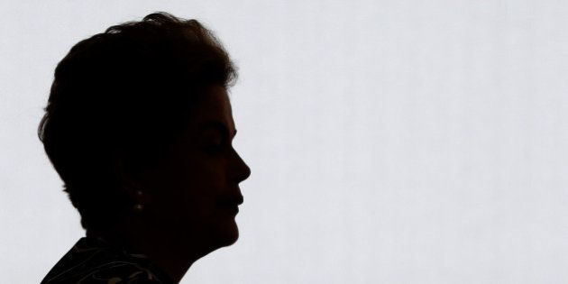 In this May 6, 2016 photo, Brazil's President Dilma Rousseff arrives to attends the ceremony of the...