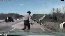 'Não morra! Não morra!': Policial faz de tudo para salvar motorista em