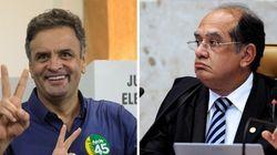Gilmar Mendes vai decidir sobre abertura de inquérito contra Aécio