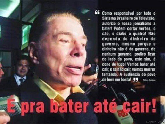 Notícia de que Silvio Santos mandou SBT bater no governo até Dilma cair é