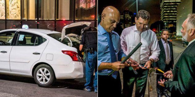Uber x táxi: Polícia apreende facas, canivetes e barra de ferro em operação para 'apaziguar os ânimos'...
