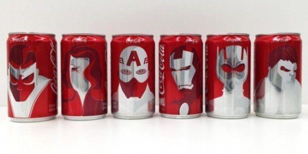 Coca-Cola e Marvel criam latinhas inspiradas em super-heróis para anunciar surpresa no Super