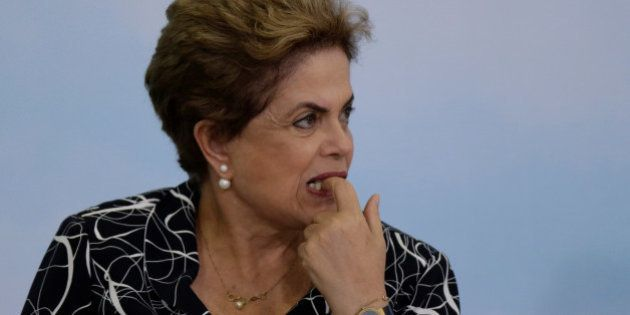 Brazil's President Dilma Rousseff attends a signing ceremony for new housing units of the Minha Casa...