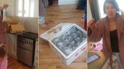 Mulher encomenda mesa e cadeira pela internet, mas recebe 40 sacos com