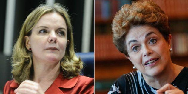 Gleisi Hoffmann acusa senadores de 'hipócritas' ao defender Dilma do