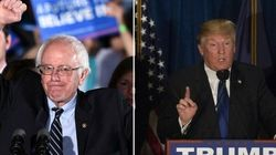 Polarizou total! Bernie Sanders e Donald Trump vencem primárias em New