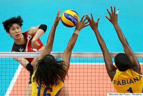 #ElasNaRio2016: Brasil destrói Japão por 3 sets a 0 em vôlei